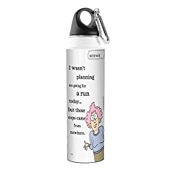 Tree-Free Greetings VB47895 Aunty Acid Artful Traveler Stainless Steel Water Bottle, 18-Ounce, Running