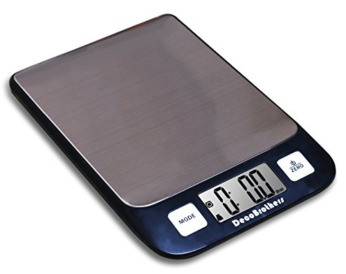 decobros digital kitchen and food scale 11lb capacity by 01oz stainless platform elegant black