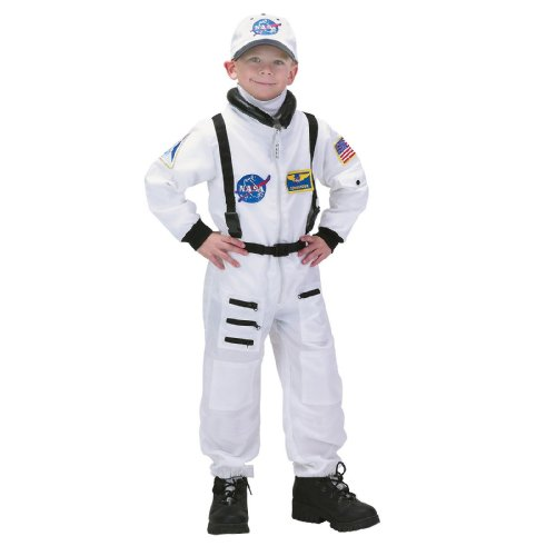 Lets Party NASA Jr. Astronaut Suit White - Large 12-14