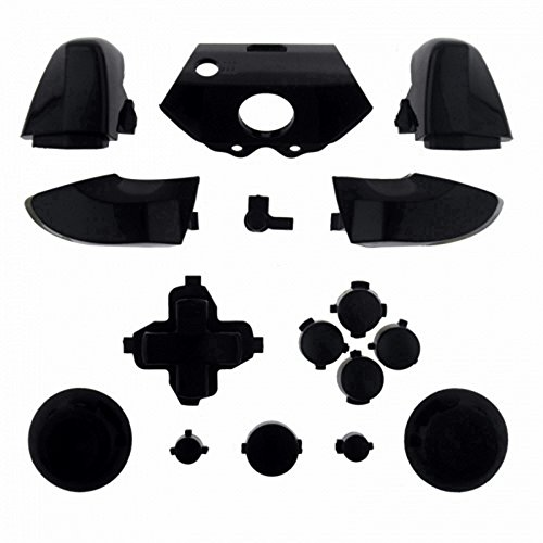 Mod Freakz Xbox One Controller Complete Button Set Solid Black (Game Gear Repair Kit compare prices)