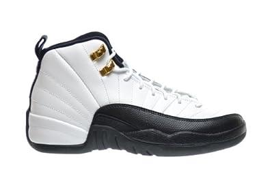 Buy Air Jordan 12 Retro Taxi Big Kids Basketball Shoes White Black-Taxi-Varsity Red... by Jordan