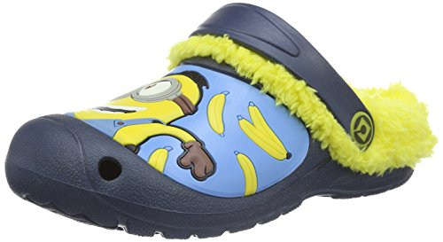 MINIONSBoys Kids Clog Sandals and Mules - Zoccoli Bambino , Multicolore (Mehrfarbig (Navy/Yellow 112)), 31