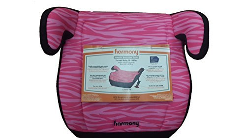 Harmony - Juvenile Youth Booster Car Seat, Pink Zebra - 1