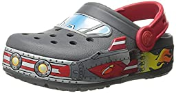 crocs Boys Galactic Light-Up Clog (Toddler/Little Kid), Charcoal, 6 M US Toddler
