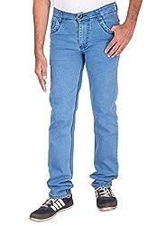 Fame Denim Lycra Regular Fit Casual Man's Light Blue Jeans