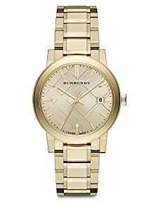buy Burberry The City Champagne Dial Gold-Tone Unisexwatch Bu9033