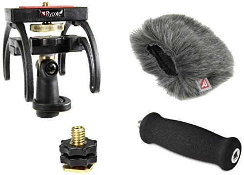 Rycote Portable Recorder Kit for ZOOM H4N Handy Recorders, with Suspension, Mini Windjammer and Extension Handle (Portable Jammer compare prices)