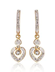 Estelle Gold Plated Danglig Earring With Crystals (463/712)