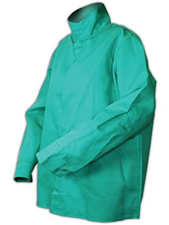 Magid 1530M Flame Resistant Cotton Arc-Resistant Jacket, Medium, Green (Each)