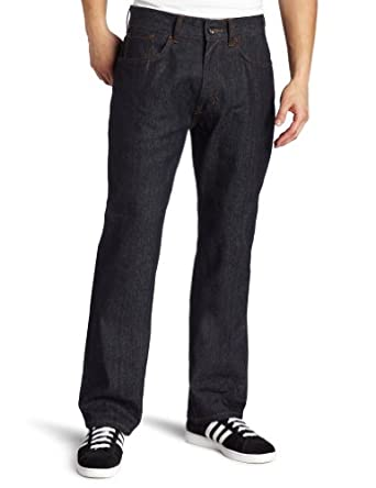 Rocawear Men's Router Classic Fit Jean, Raw/Red, 34