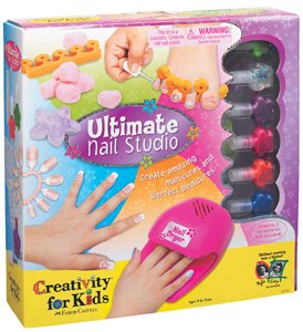Girls ULITMATE NAIL POLISH SET AND NAIL ART KITS! Girl's love this! Nail and Pedicure combo sets