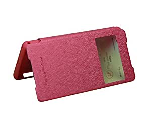 Premium WOW Mercury Flip Wallet Back Case Cover Made for Xperia Z2 D6502/03-Dark Pink