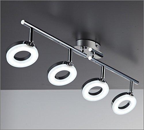 LED Deckenleuchte I 4 flammige Deckenlampe I runde Platinen I dreh ...