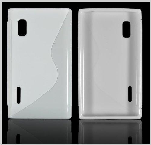 Für LG E610 Optimus L5 Silikon Handy Tasche Schutz Hülle Case Silicon in Weiss
