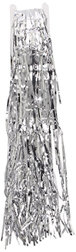 Smiffys Men's Silver Shimmer Curtain - One Size - 1