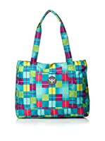 Chiemsee Bolso New Shopper (Azul / Fucsia / Amarillo)