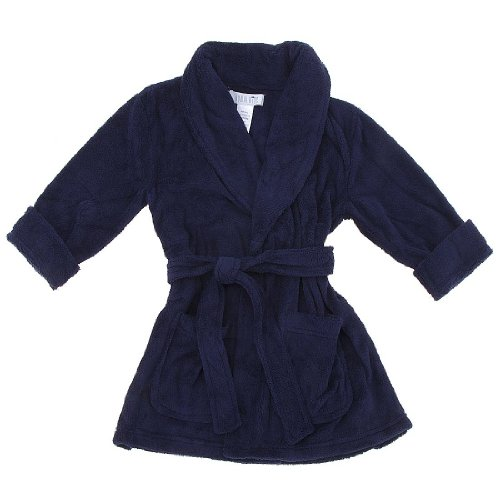 Navy Blue Fleece Robe for Boys