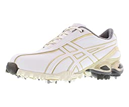 ASICS Women\'s Lady GEL-Ace Golf Shoe,White/Champagne Gold,8.5 M US
