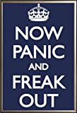 Now Panic And Freak Out  24x36 Dry Mount Poster Gold Wood Framed