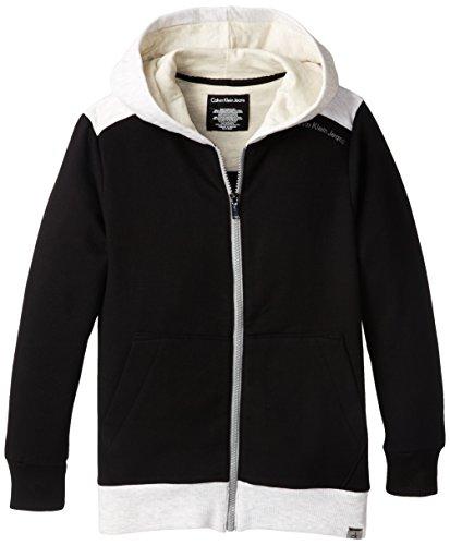 Calvin Klein Big Boys' Ck Fleece Hoody, Black, X-Large