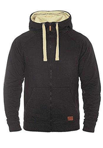 BLEND Aidoo - Felpa Con Zip da Uomo, taglia:M;colore:Black (70155)