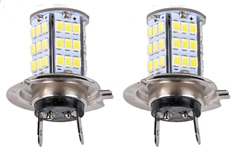 Cutequeen Trading 2 Xh7 White 1350 Lumens Super Bright 54Smd 54-Smd 2835 Chipsets Led Car Lights Bulb (2Pcs)