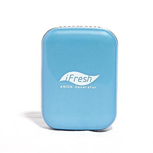 Onairmall® Ifresh Olf-689 The Second Generation Hq Portable Mini Pendant-Ion And Ozone Generator Air Purifier Air Freshener - Blue front-605230