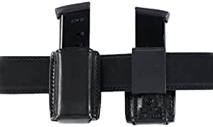 Galco QMC Quick Magazine Carrier for 9mm, .40, .357 Sig Staggered Polymer Magazines and S&W M&P 9mm, .40 Metal Magazines (Black, Ambi)