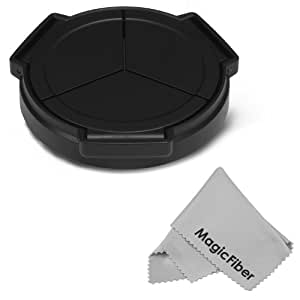 Auto Lens Cap for PANASONIC LUMIX DMC LX5 LX-5, LEICA D-LUX 5 + MagicFiber Microfiber Lens Cleaning Cloth