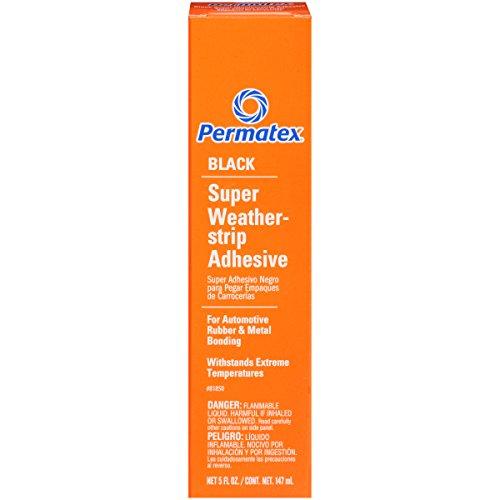 Permatex 81850 Black Super Weatherstrip Adhesive, 5 oz. (Auto Trim Glue compare prices)