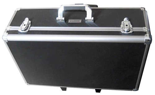 Zeikos Ze-Hc52 Large Rolling Hard Case With Extra Padding Foam For Cameras, Camcorders, Digital Dslr And Photograpic Equipment. Built-In Handle And Wheels