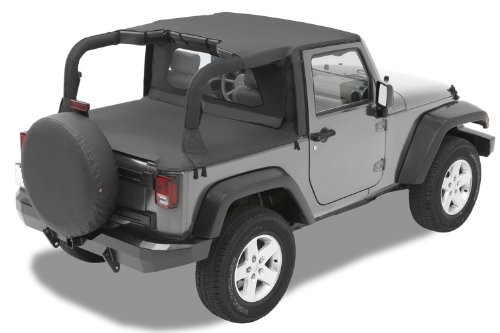 Bestop 52580-35 Header-Style Bikini Black Diamond Top For 07-09 Wrangler Jk 2-Door