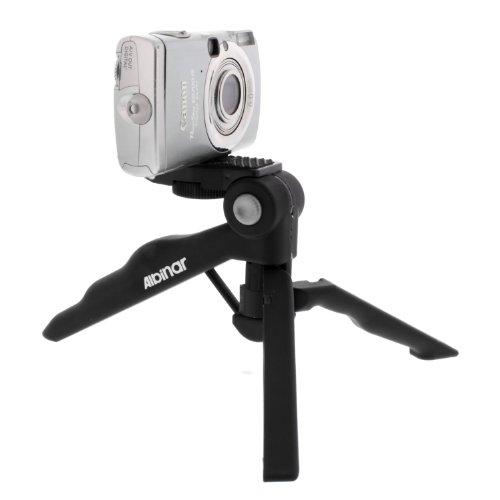 "Albinar 2 in 1 4"" Hand Pistol Grip Mini Tripod For Digital Cameras and Camcorders"