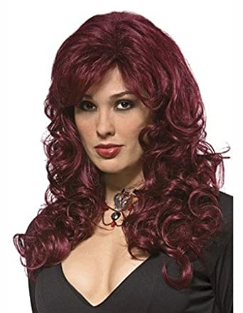 Sexy and Curly Long Burgundy Wine Goddess Wig [Apparel]