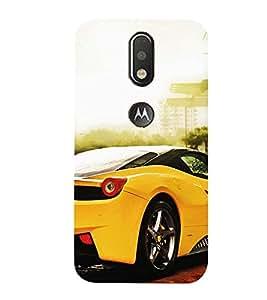 99Sublimation Sports Car 3D Hard Polycarbonate Designer Back Case Cover for Motorola Moto G4 Plus
