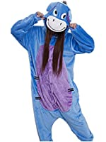 OFFICIAL CLUBCORSETS ANIMAL PYJAMA ONESIE- FLUFFY FUN! IDEAL UNISEX XMAS PRESSIE ALL SIZES S, M, L, XL (S 145-160 CM ( HEIGHT 4'9~5'2 ), DONKEY EEYORE)