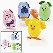 Animal Easter Egg Decorating Craft Kit ~ Makes 12 Eggs ~ Self-adhesive Foam Stickers ~ Includes 2.5