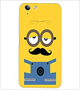 PrintDhaba Mustache D-2007 Back Case Cover for LENOVO VIBE K5 PLUS (Multi-Coloured)