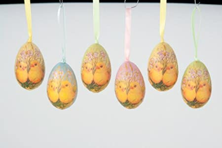 Decoupage Chicks Gift Bag Set Easter Egg Ornaments