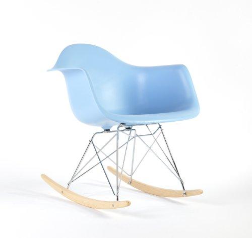Charles Eames RAR Plastic Rocking Chair - Blue