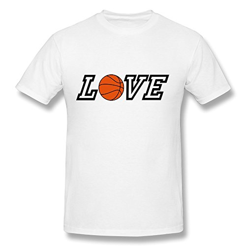 100% Cotton Funny Quotes Basketball Tee For Men - Round Neck front-748157