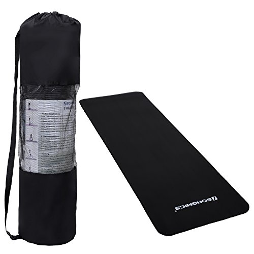 Songmics 183x61x1,0 cm Tappetino Tappeto Yoga Palestra Fitness Ginnastica Pilates FYG61H