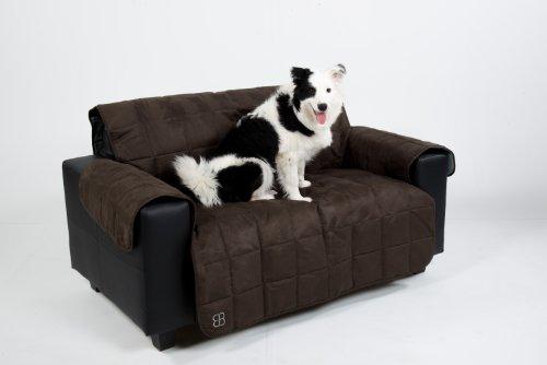 Petego Sofa Cover, Pet Sofa Cover Full Fit Furniture Protectors (Espresso, Loveseat)