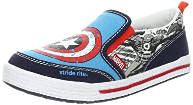 Stride Rite Captain America Sneaker (Toddler/Little Kid),Blue/Red,11.5 M US Little Kid