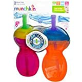 Munchkin Click Lock Straw Cup - 9 oz - 2 pk - Colors May Vary