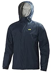 Helly Hansen Men\'s Loke Rain Jacket, Deep Steel, Medium