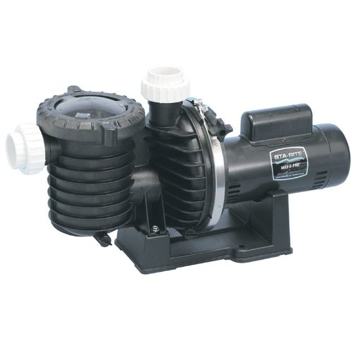 Pentair Sta-Rite P6RA6F-206L Max-E-Pro Standard Efficiency Single Speed Up Rated Pool and Spa Pump, 1-1/2 HP, 115/230-Volt