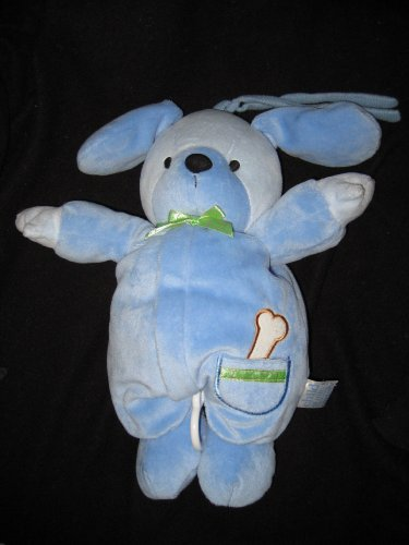 Carters Musical Blue Puppy Plush front-160094