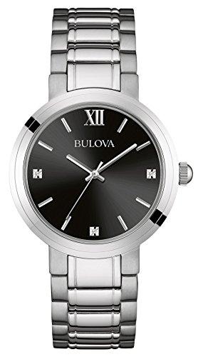 bulova-mens-diamond-quartz-watch-with-black-dial-analogue-display-and-silver-stainless-steel-bracele