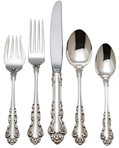 Reed & Barton Spanish Baroque Sterling Silver 5 Piece Place Setting, Large